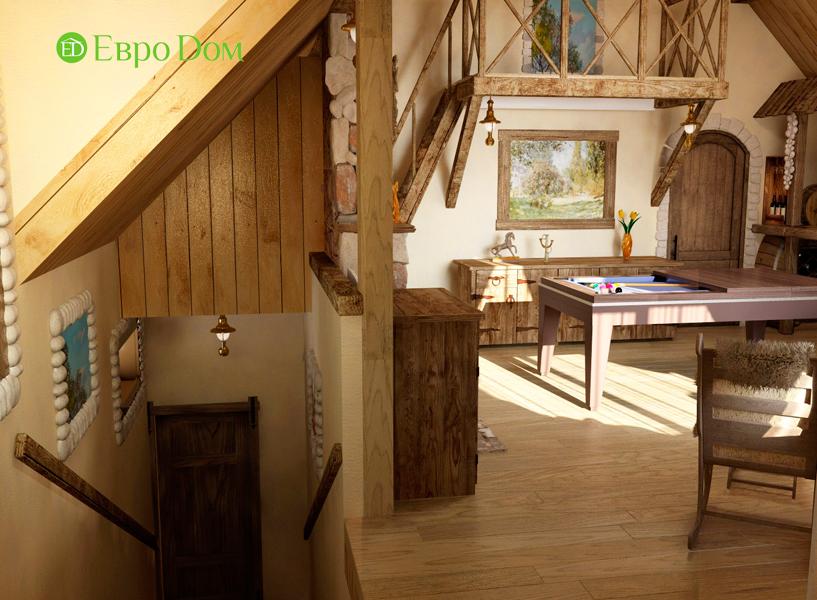 Дизайн интерьера коттеджа 434 кв. м в деревенском стиле. Фото 07
