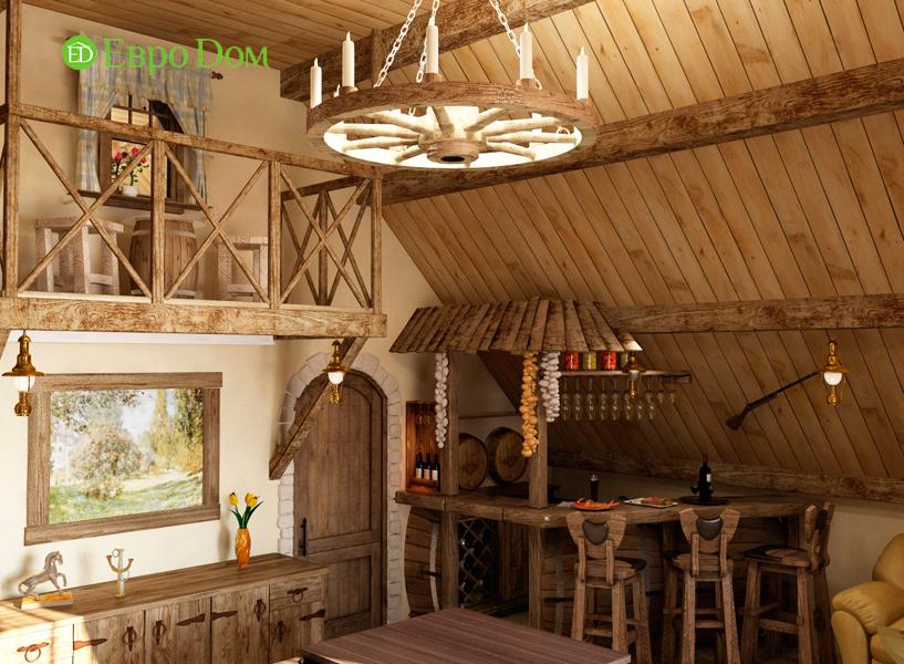 Дизайн интерьера коттеджа 434 кв. м в деревенском стиле. Фото 08