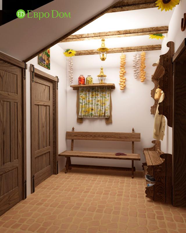 Дизайн интерьера коттеджа 434 кв. м в деревенском стиле. Фото 010