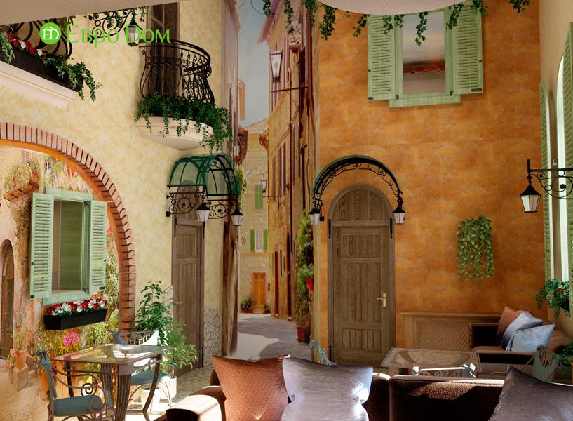 Дизайн интерьера коттеджа 434 кв. м в деревенском стиле. Фото 014