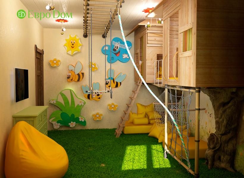 Дизайн интерьера коттеджа 434 кв. м в деревенском стиле. Фото 016