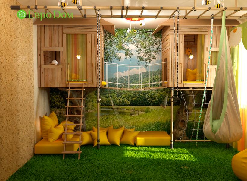 Дизайн интерьера коттеджа 434 кв. м в деревенском стиле. Фото 017