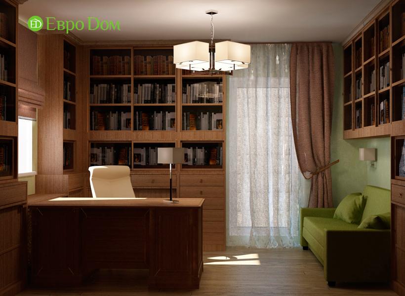 Дизайн интерьера коттеджа 434 кв. м в деревенском стиле. Фото 019