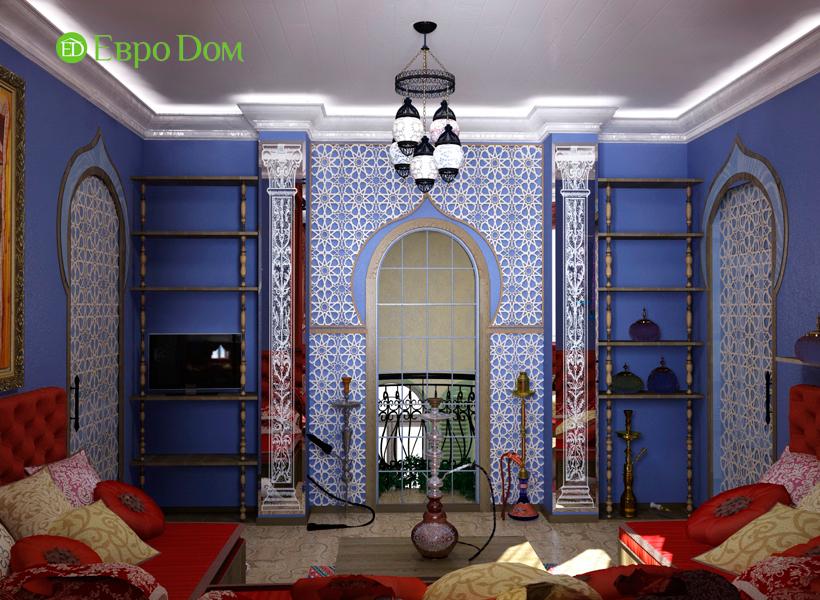 Дизайн интерьера коттеджа 434 кв. м в деревенском стиле. Фото 021