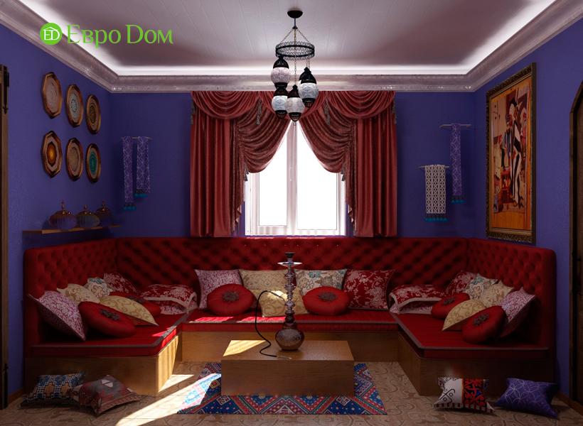Дизайн интерьера коттеджа 434 кв. м в деревенском стиле. Фото 022