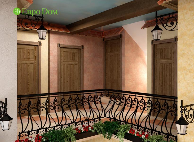 Дизайн интерьера коттеджа 434 кв. м в деревенском стиле. Фото 023