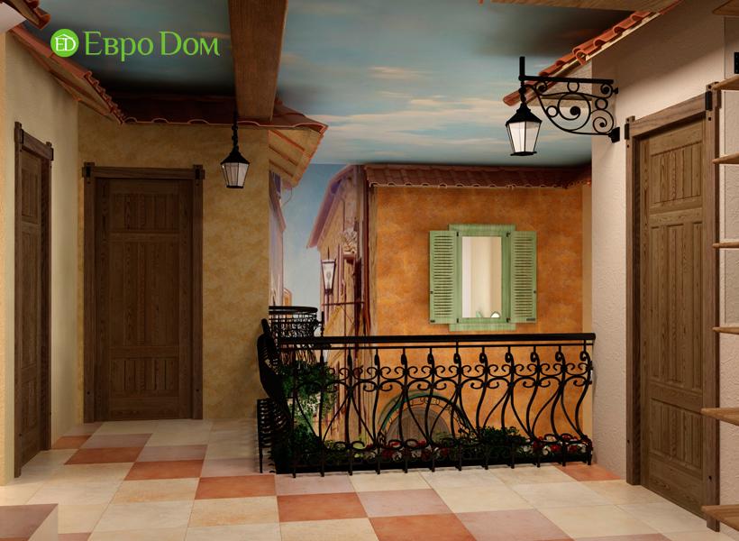 Дизайн интерьера коттеджа 434 кв. м в деревенском стиле. Фото 024
