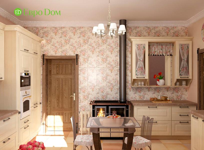Дизайн интерьера коттеджа 434 кв. м в деревенском стиле. Фото 025