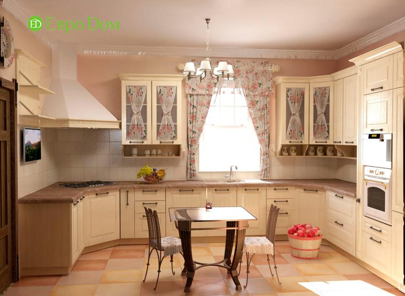 Дизайн интерьера коттеджа 434 кв. м в деревенском стиле. Фото 026