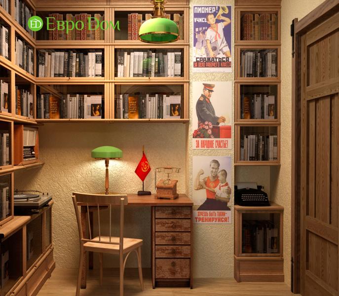 Дизайн интерьера коттеджа 434 кв. м в деревенском стиле. Фото 027