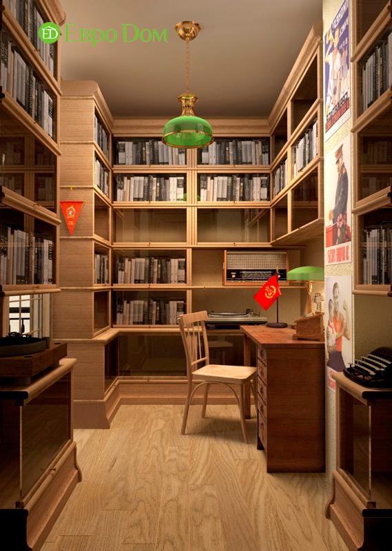 Дизайн интерьера коттеджа 434 кв. м в деревенском стиле. Фото 028