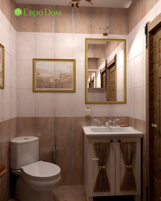Дизайн интерьера коттеджа 434 кв. м в деревенском стиле. Фото 029