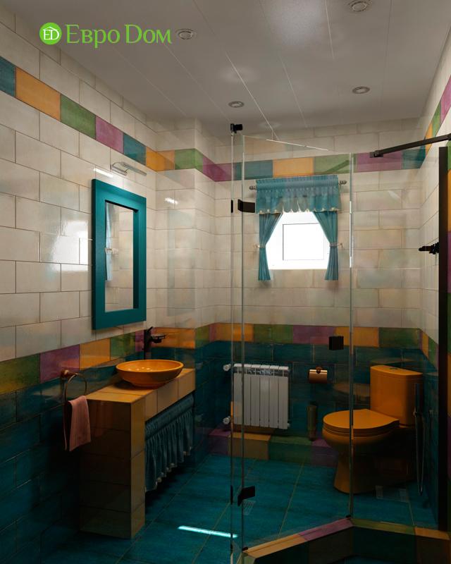 Дизайн интерьера коттеджа 434 кв. м в деревенском стиле. Фото 031