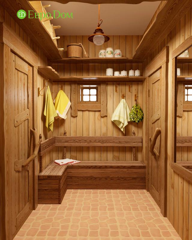 Дизайн интерьера коттеджа 434 кв. м в деревенском стиле. Фото 032