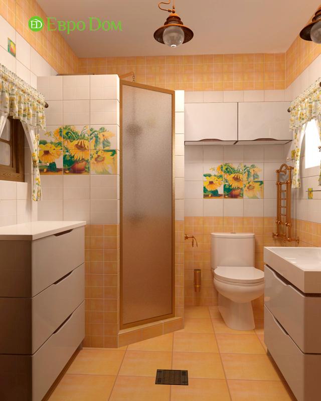 Дизайн интерьера коттеджа 434 кв. м в деревенском стиле. Фото 033