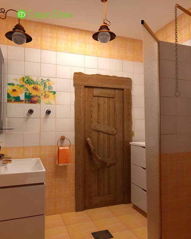Дизайн интерьера коттеджа 434 кв. м в деревенском стиле. Фото 034