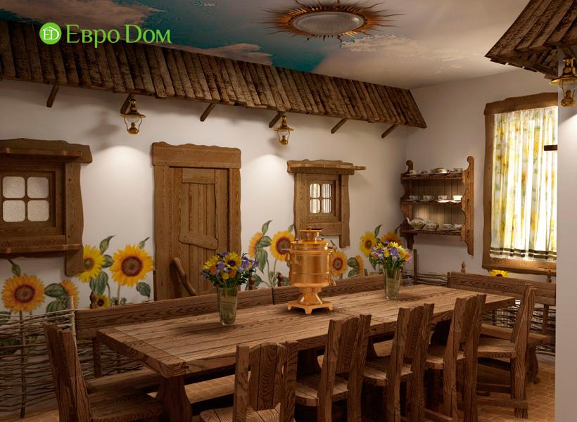 Дизайн интерьера коттеджа 434 кв. м в деревенском стиле. Фото 035