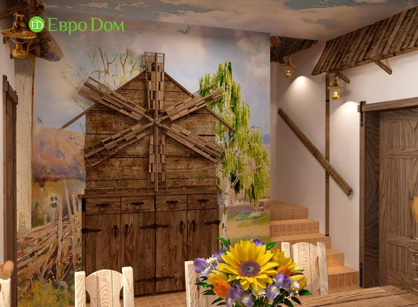 Дизайн интерьера коттеджа 434 кв. м в деревенском стиле. Фото 036