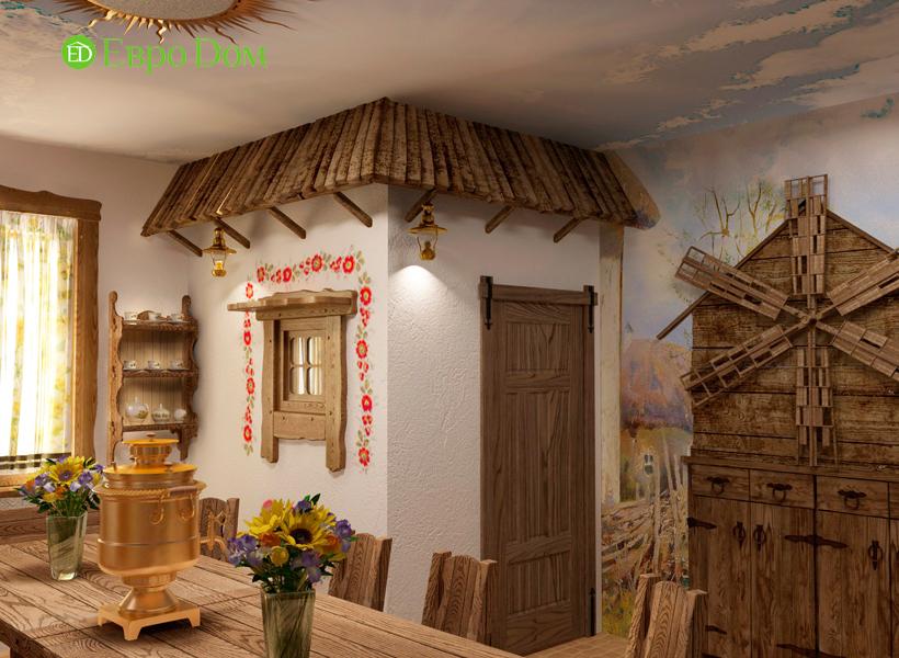 Дизайн интерьера коттеджа 434 кв. м в деревенском стиле. Фото 037