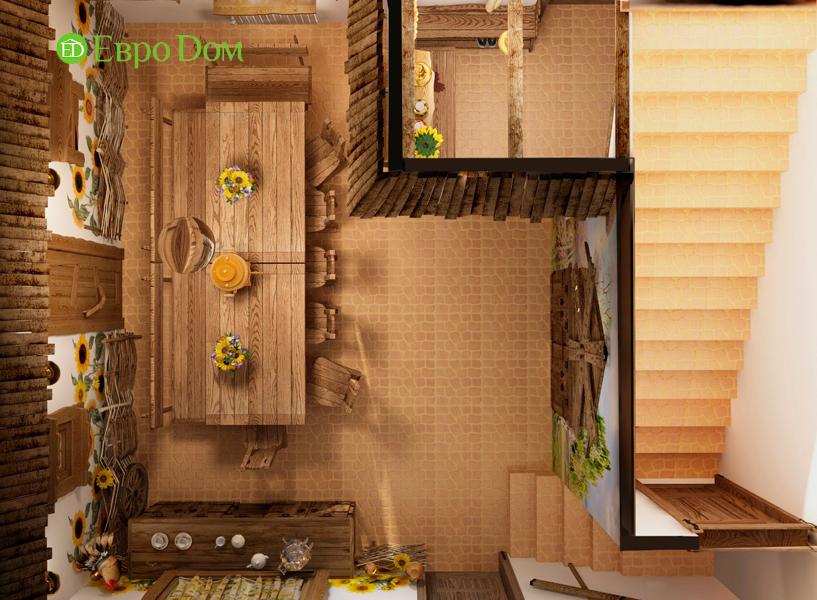 Дизайн интерьера коттеджа 434 кв. м в деревенском стиле. Фото 038