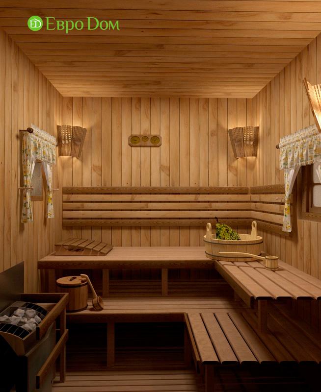 Дизайн интерьера коттеджа 434 кв. м в деревенском стиле. Фото 039