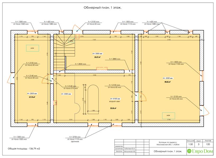 Дизайн интерьера коттеджа 434 кв. м в деревенском стиле. Фото 043