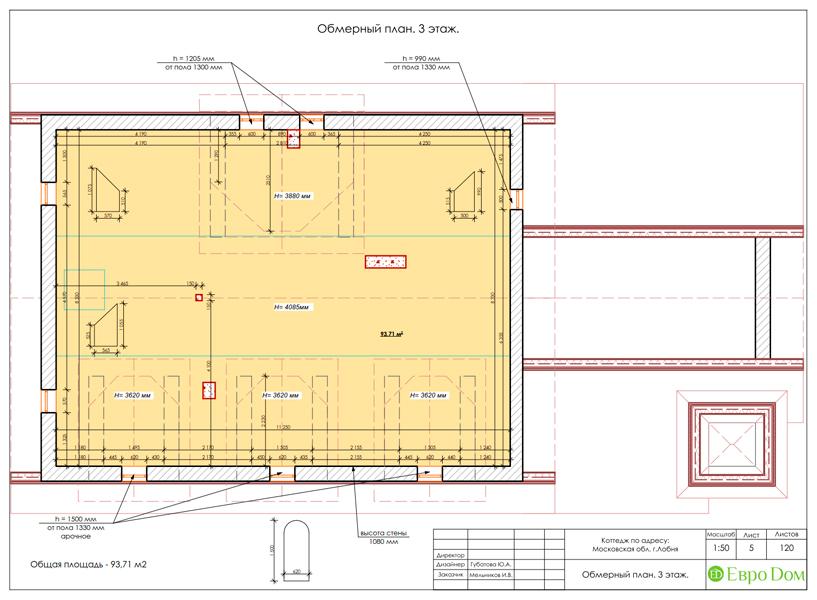 Дизайн интерьера коттеджа 434 кв. м в деревенском стиле. Фото 045