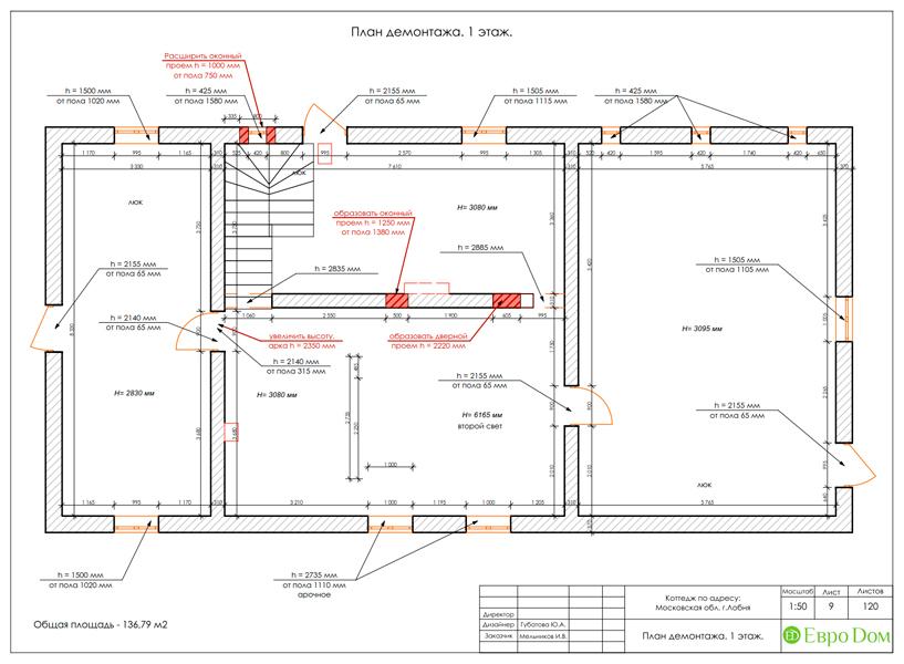 Дизайн интерьера коттеджа 434 кв. м в деревенском стиле. Фото 049