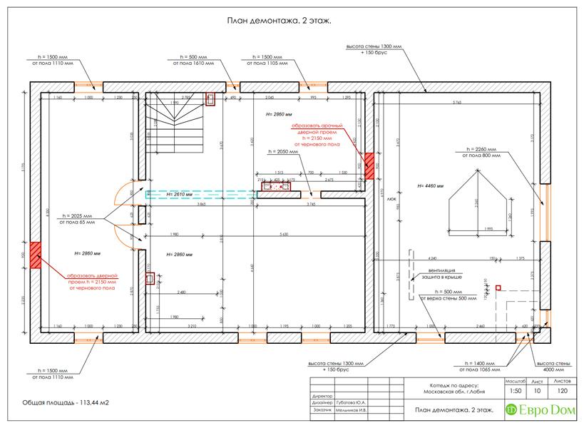 Дизайн интерьера коттеджа 434 кв. м в деревенском стиле. Фото 050