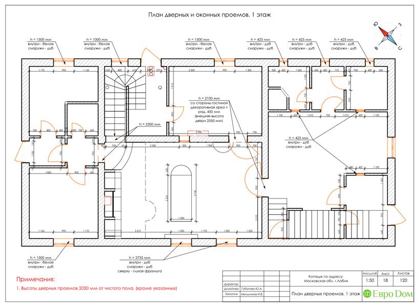 Дизайн интерьера коттеджа 434 кв. м в деревенском стиле. Фото 059