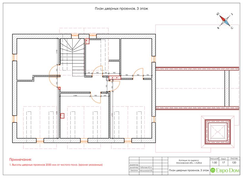 Дизайн интерьера коттеджа 434 кв. м в деревенском стиле. Фото 061