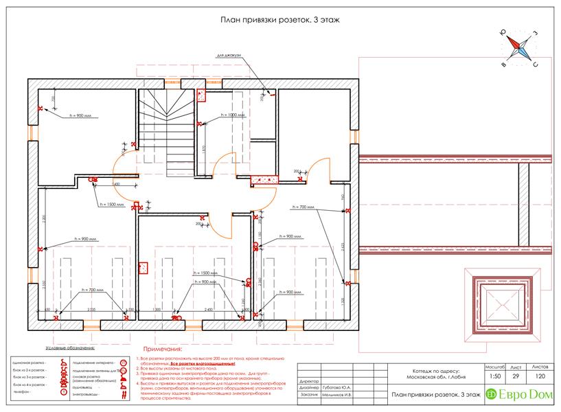 Дизайн интерьера коттеджа 434 кв. м в деревенском стиле. Фото 073