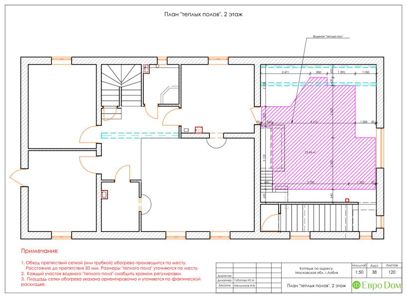 Дизайн интерьера коттеджа 434 кв. м в деревенском стиле. Фото 082