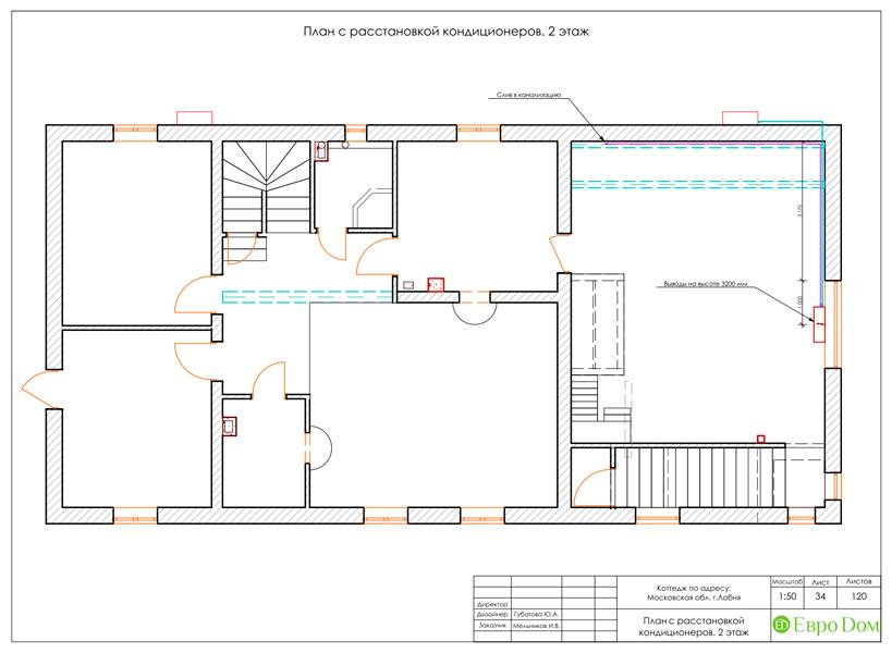 Дизайн интерьера коттеджа 434 кв. м в деревенском стиле. Фото 085