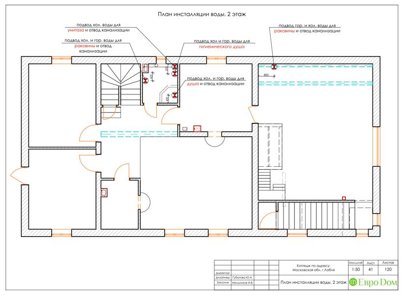 Дизайн интерьера коттеджа 434 кв. м в деревенском стиле. Фото 086