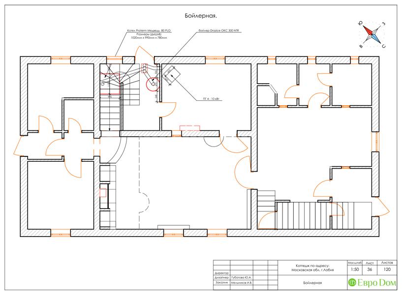 Дизайн интерьера коттеджа 434 кв. м в деревенском стиле. Фото 087