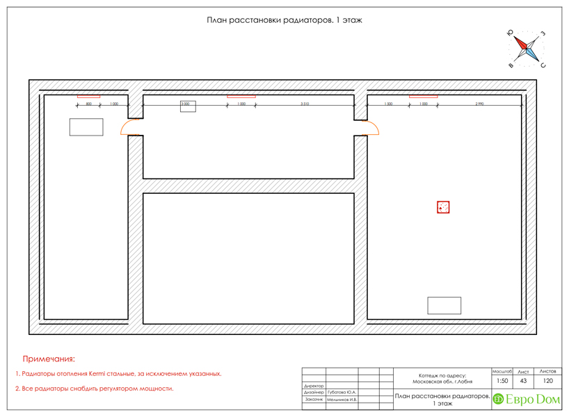 Дизайн интерьера коттеджа 434 кв. м в деревенском стиле. Фото 088