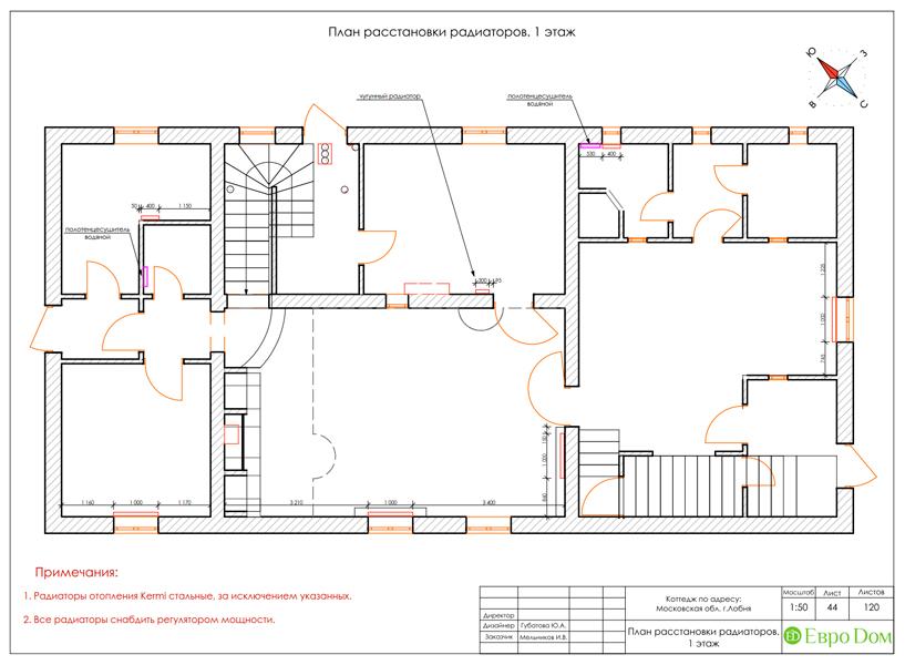 Дизайн интерьера коттеджа 434 кв. м в деревенском стиле. Фото 090