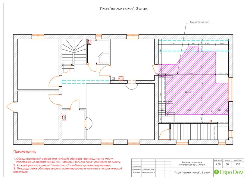Дизайн интерьера коттеджа 434 кв. м в деревенском стиле. Фото 091