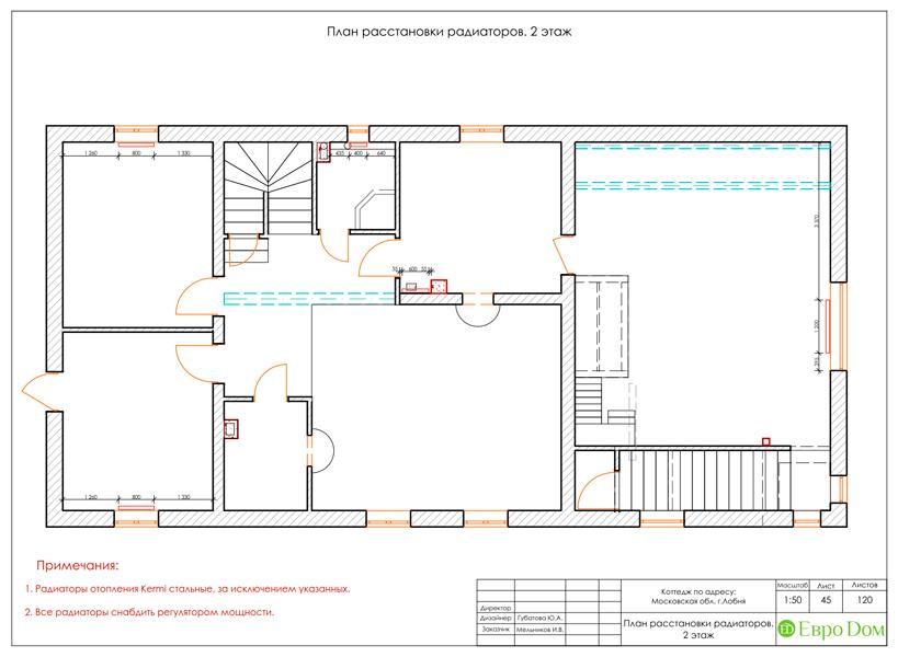 Дизайн интерьера коттеджа 434 кв. м в деревенском стиле. Фото 092