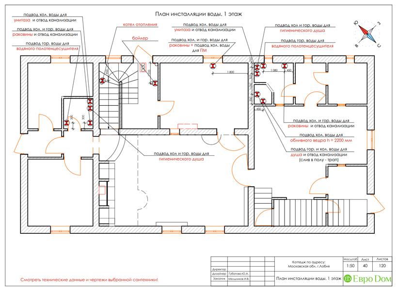 Дизайн интерьера коттеджа 434 кв. м в деревенском стиле. Фото 093