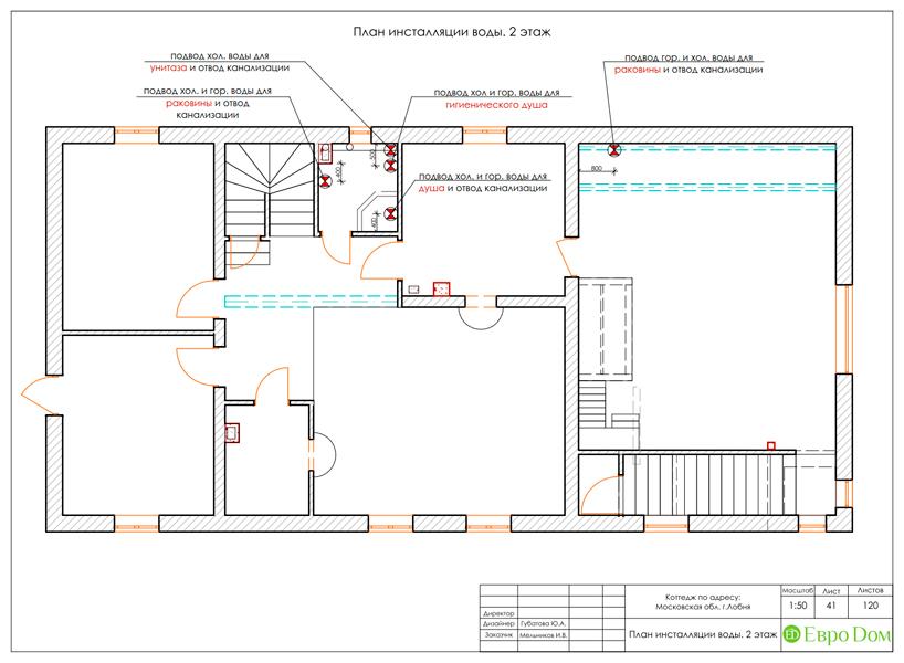 Дизайн интерьера коттеджа 434 кв. м в деревенском стиле. Фото 094