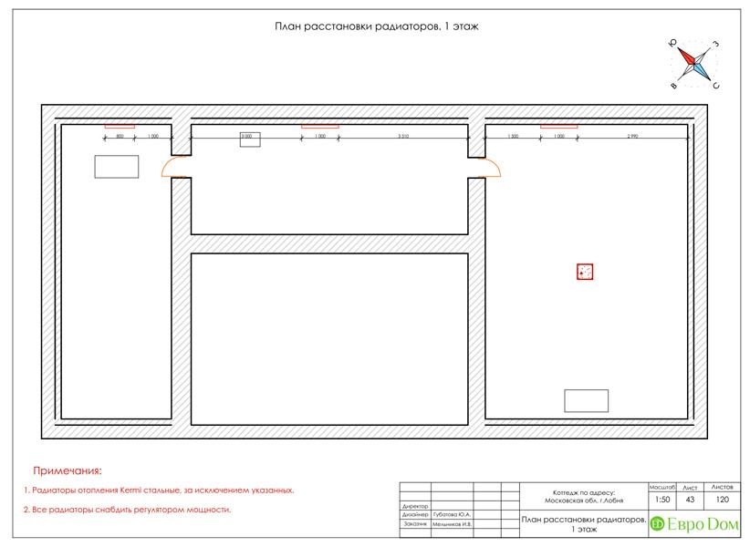 Дизайн интерьера коттеджа 434 кв. м в деревенском стиле. Фото 096