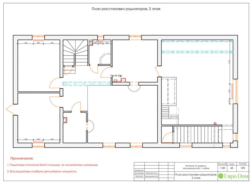 Дизайн интерьера коттеджа 434 кв. м в деревенском стиле. Фото 098
