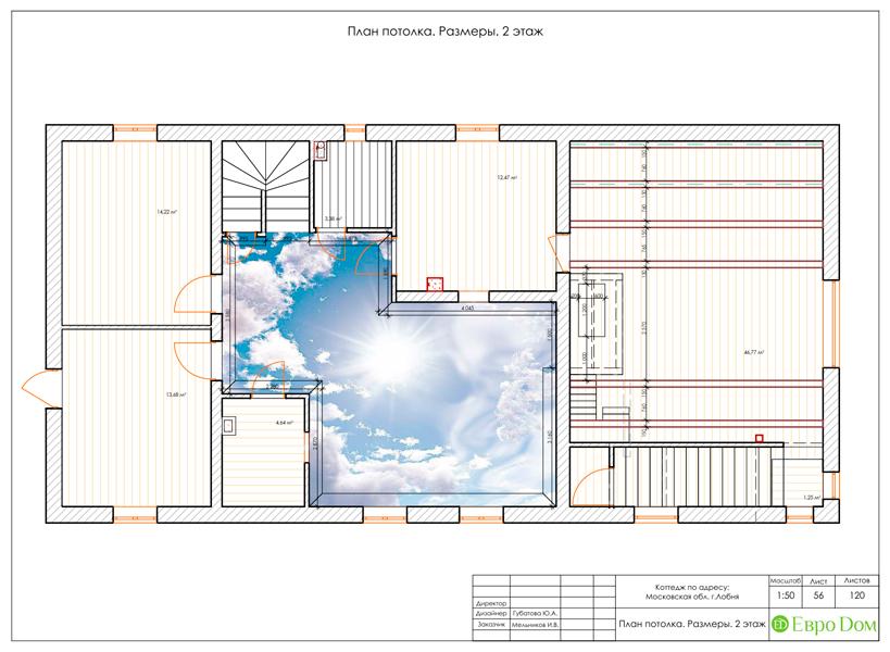 Дизайн интерьера коттеджа 434 кв. м в деревенском стиле. Фото 0103
