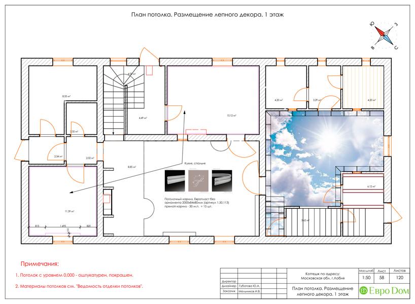 Дизайн интерьера коттеджа 434 кв. м в деревенском стиле. Фото 0106