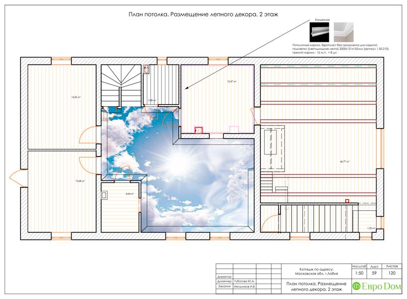 Дизайн интерьера коттеджа 434 кв. м в деревенском стиле. Фото 0108