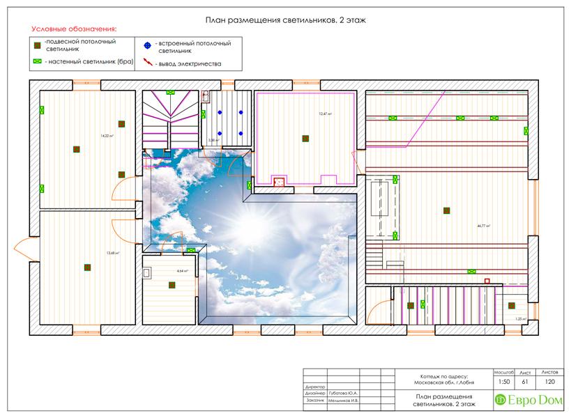 Дизайн интерьера коттеджа 434 кв. м в деревенском стиле. Фото 0111