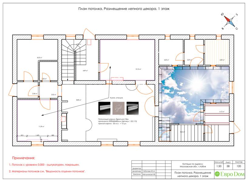 Дизайн интерьера коттеджа 434 кв. м в деревенском стиле. Фото 0115