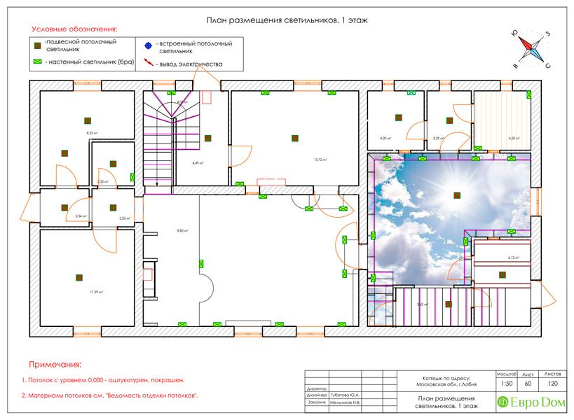 Дизайн интерьера коттеджа 434 кв. м в деревенском стиле. Фото 0118